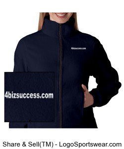 Ladies Iceberg Fleece Full-Zip Jacket Design Zoom