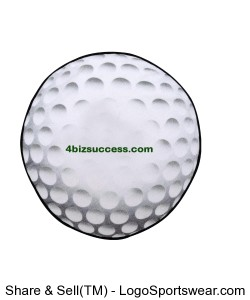 Golf Ball Shaped Towel  with Hook and Grommet Design Zoom