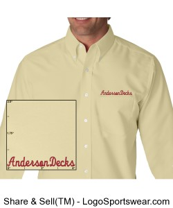 Longsleeve Oxford Dress Shirt Design Zoom