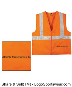 CornerStone High Visibility Adult Vest Design Zoom
